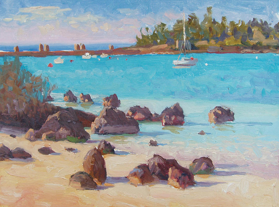 Bermuda Painting - View From The Grotto by Dianne Panarelli Miller