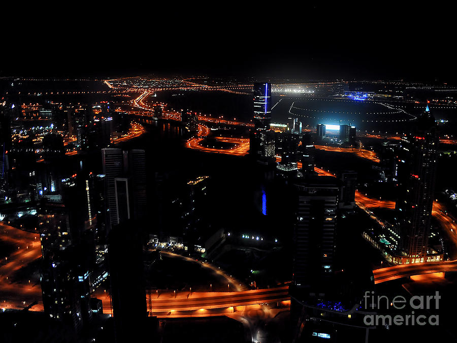 Tallest Hotel Photograph - View From The Jw Marriott Marquis Dubai Hotel by Graham Taylor
