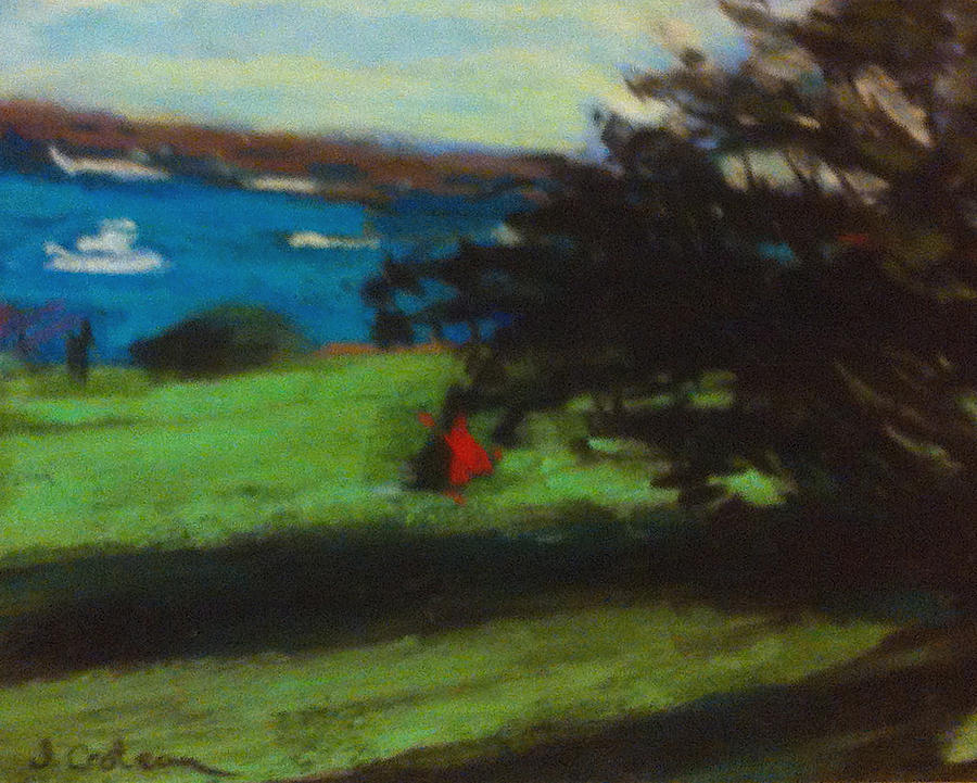 Boat Pastel - View From The Prom by Jane Croteau