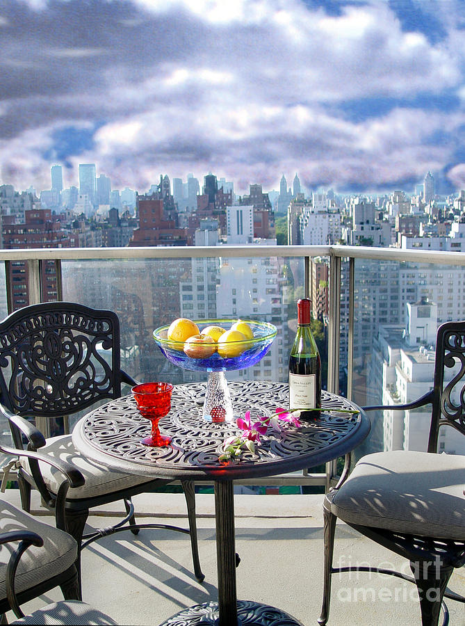 View From The Terrace by Madeline Ellis