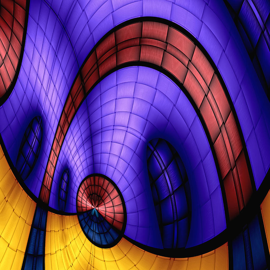 Abstract Digital Art - View From The Top 1 by Wendy J St Christopher