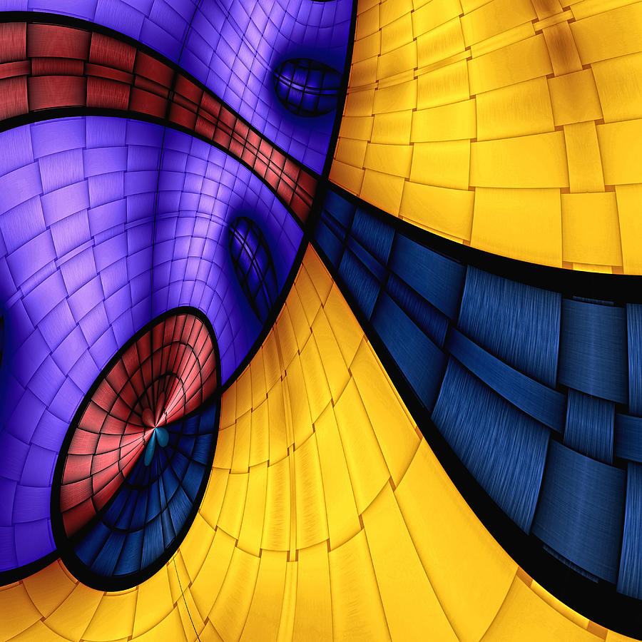 Abstract Digital Art - View From The Top 2 by Wendy J St Christopher