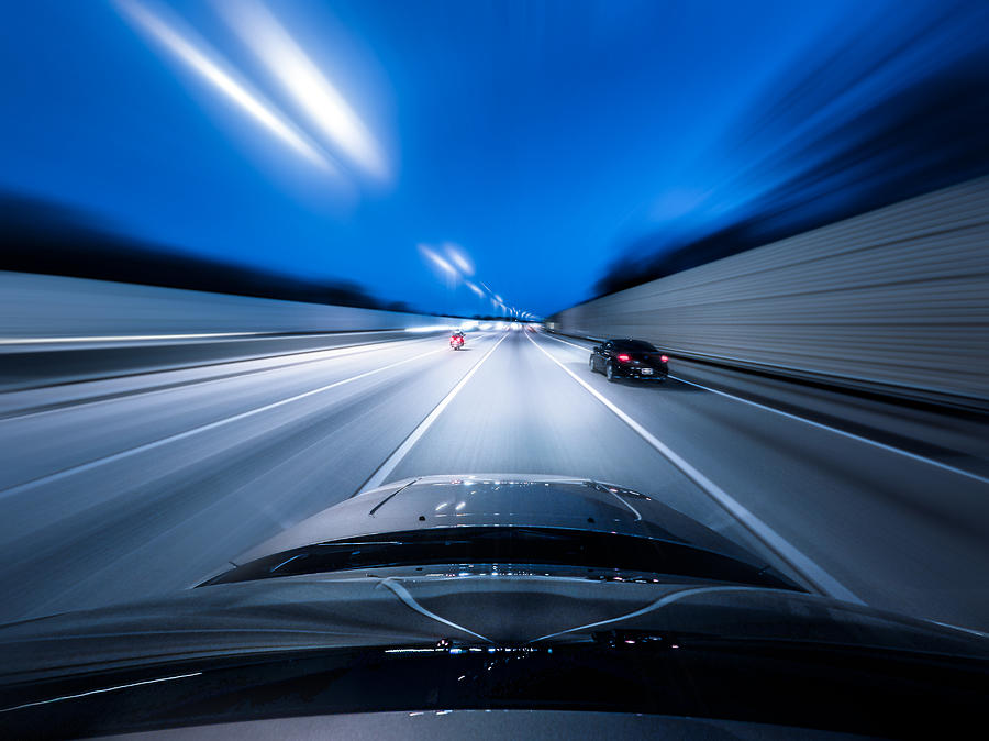 View From The Top Of A Car Driving Down Photograph by Darekm101