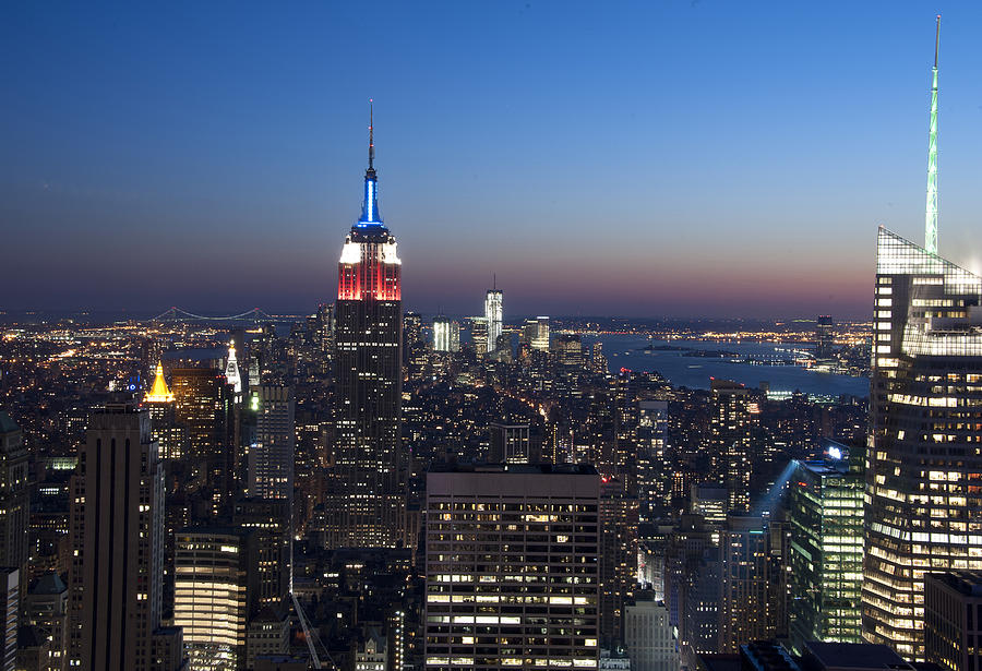 Empire State Building Photograph - View From The Top Of The Rock by David Yack