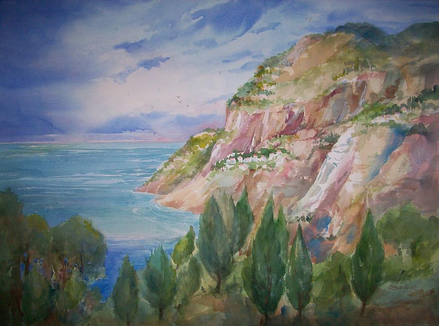 Capri Painting - View From Villa Brunella by Sue Kemp