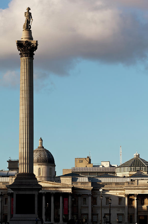 View From Whitehall Of Nelsons Column Photograph by Doug Mckinlay / Design Pics