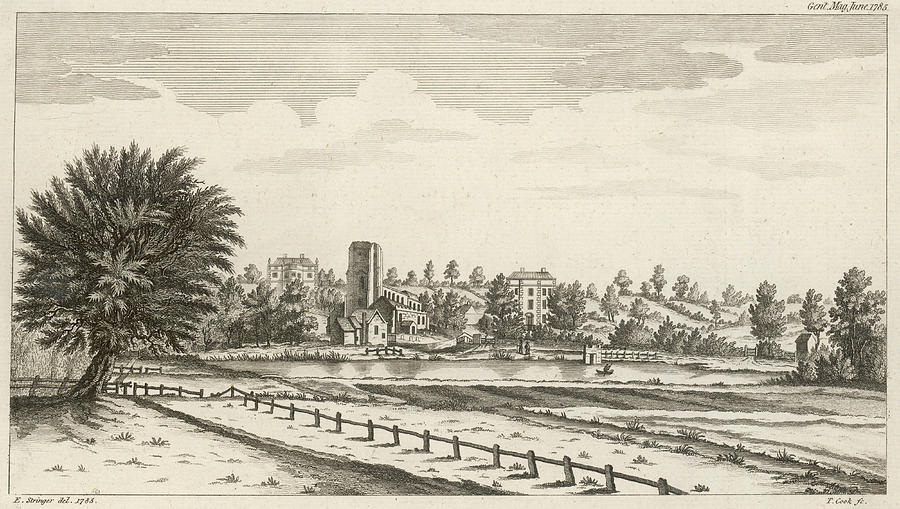 England Drawing - View Near Lichfield  (staffordshire) by Mary Evans Picture Library