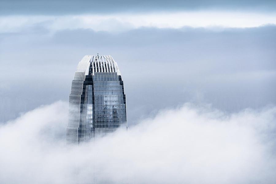 View of a very foggy Hong Kong Photograph by Chunyip Wong