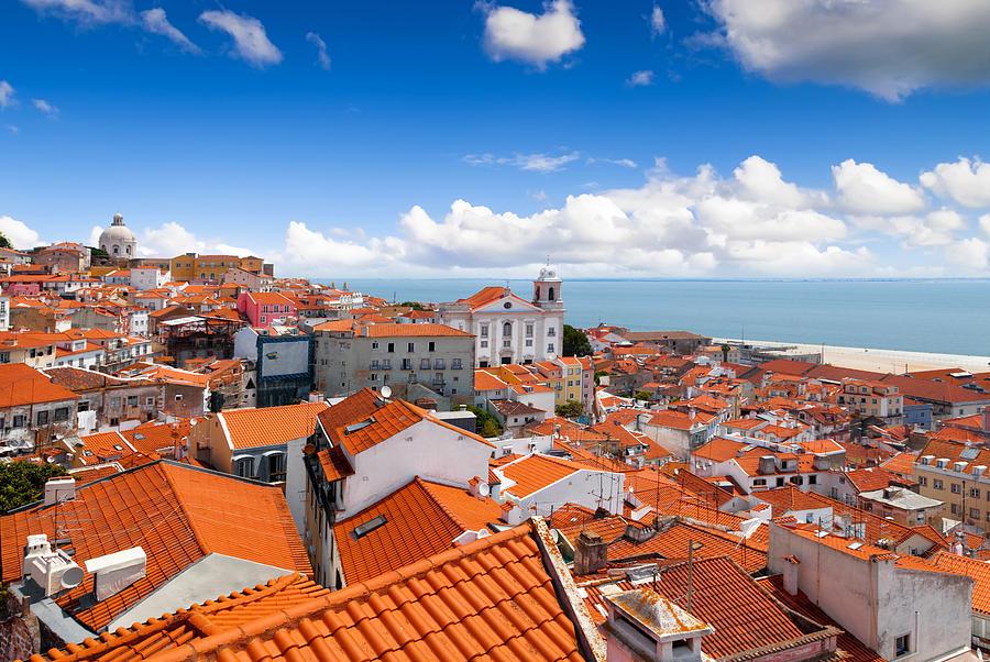 View Of Alfama From Miradouro De Santa Luzia, Lisbon, Portugal Photograph by Artherng