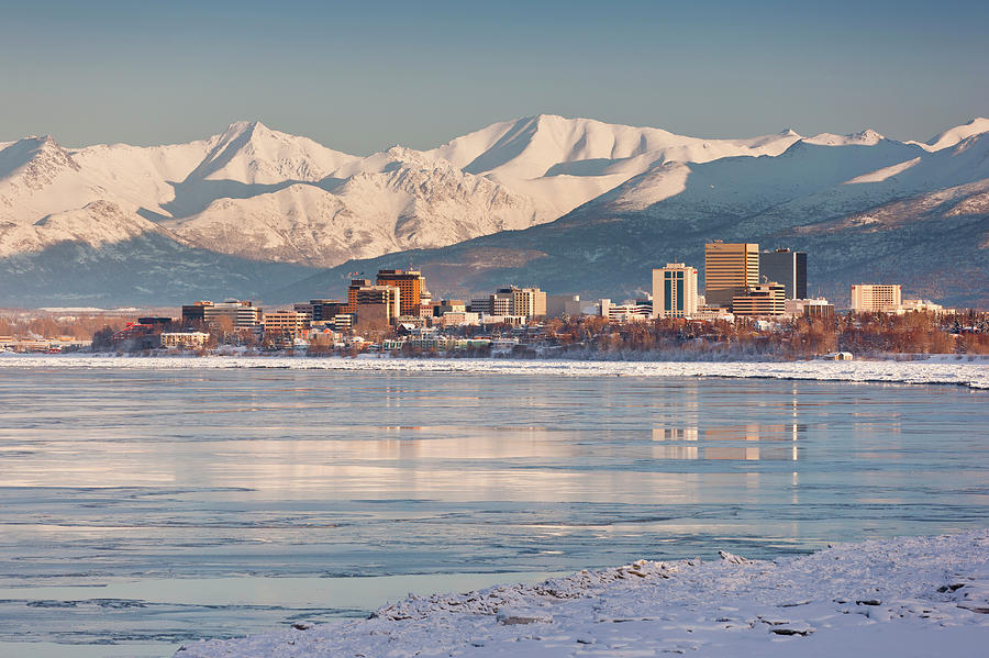 View Of Anchorage Skyline Chugach Photograph by Kevin Smith / Design Pics