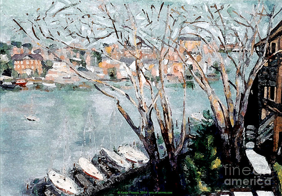 Annapolis Painting - View of Annapolis by Karen E. Francis by Karen Francis