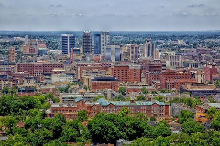 Birmingham Photograph - View of Birmingham Alabama by Mountain Dreams
