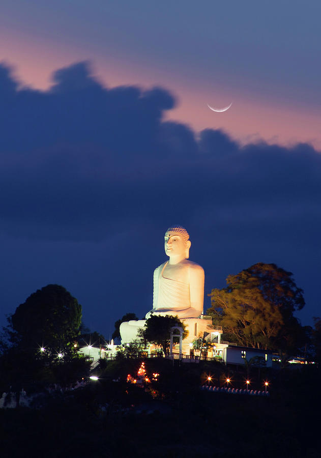 View Of Buddhist Statue At Twilight Photograph by Grant Faint
