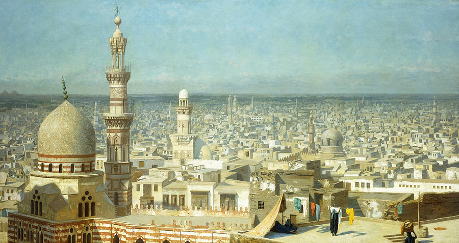 Academic Painting - View Of Cairo by Jean Leon Gerome