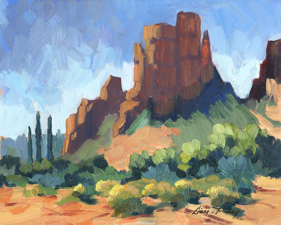 Cathedral Rock Painting - View Of Cathedral Rock Sedona by Diane McClary