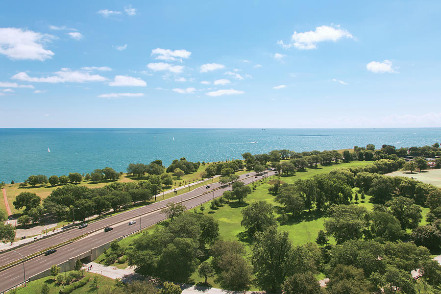 View Of Chicago, Lake Michigan, Lake Photograph by Sasha Weleber