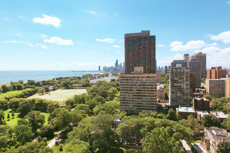 View Of Chicago Skyline And Lake Photograph by Sasha Weleber