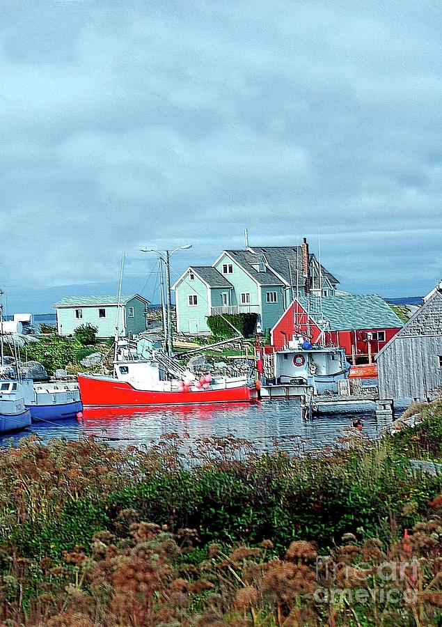 Boat Photograph - View Of Cove by Kathleen Struckle