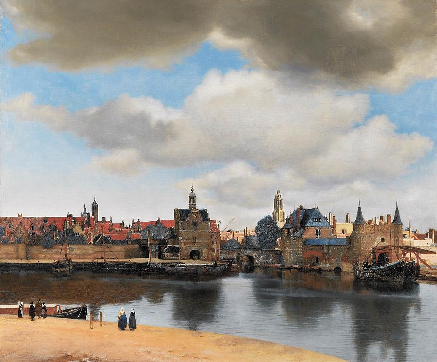Dutch Golden Age Painting - View Of Delft by Johannes Vermeer