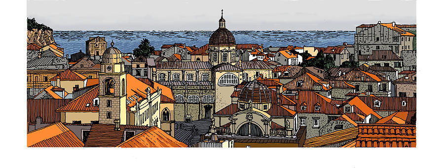 View of Dubrovnik by David Burkart
