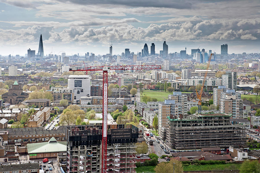 View Of East London Photograph by James Burns