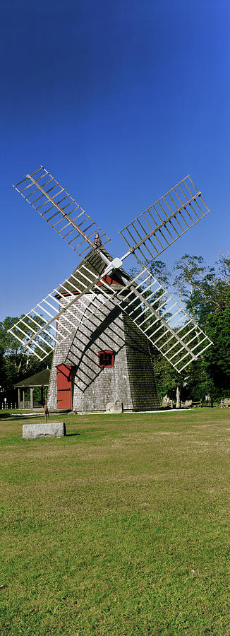 Color Image Photograph - View Of Eastham Windmill, Eastham, Cape by Panoramic Images