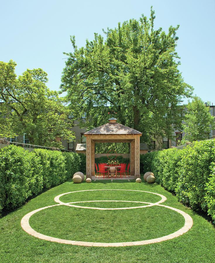 View Of Gazebo In Garden Photograph by Billy Cunningham