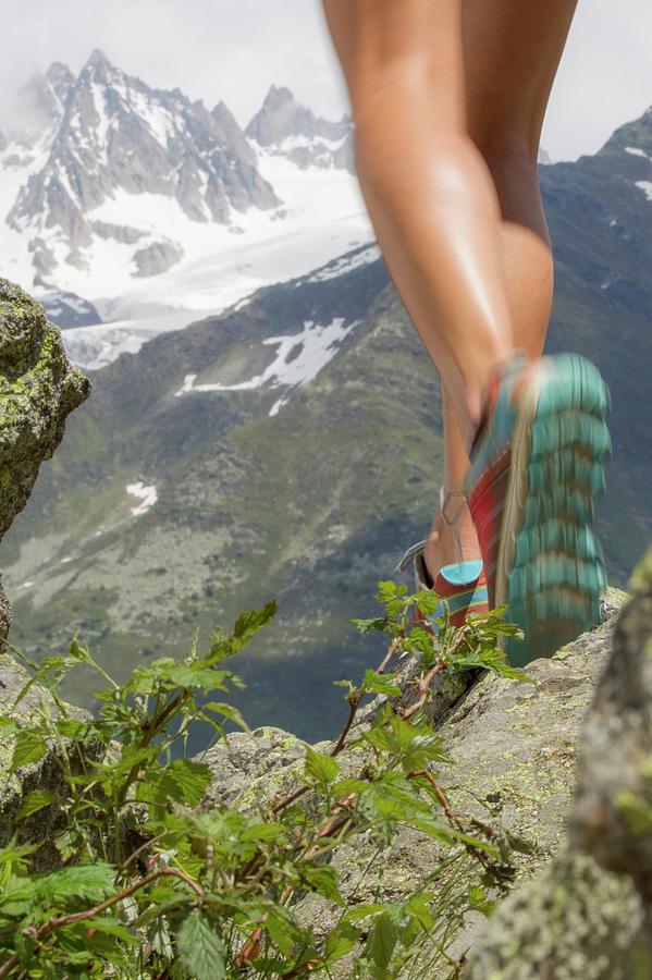 View Of Girls Legs Trail Running Photograph by Thomas Bekker
