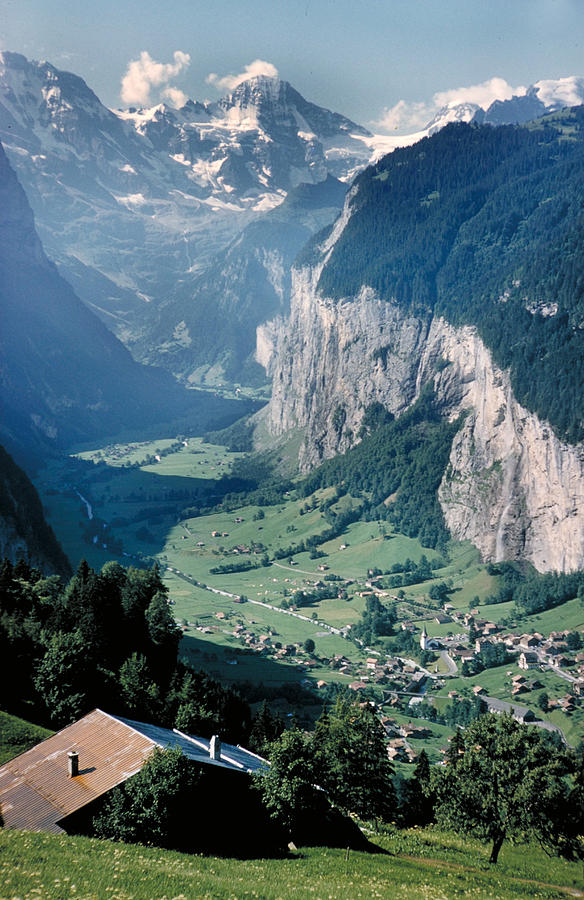 Alps Photograph - Amazing View Of Swiss Valley by Carl Purcell