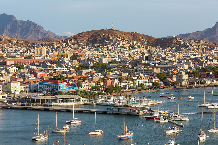 View Of Harbor & Mindelo, Sao Vicente Photograph by Peter Adams