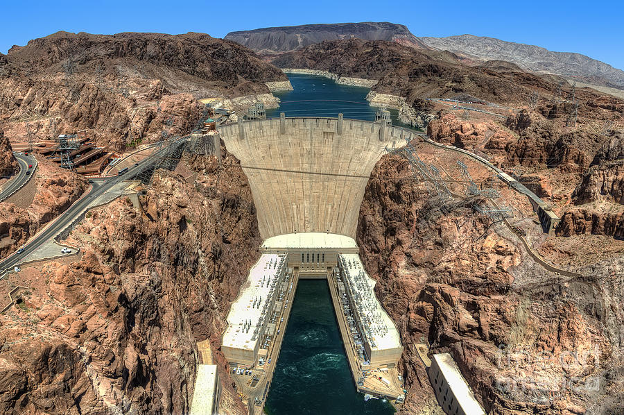 Hoover Dam Photograph - View Of Hoover Dam by Eddie Yerkish