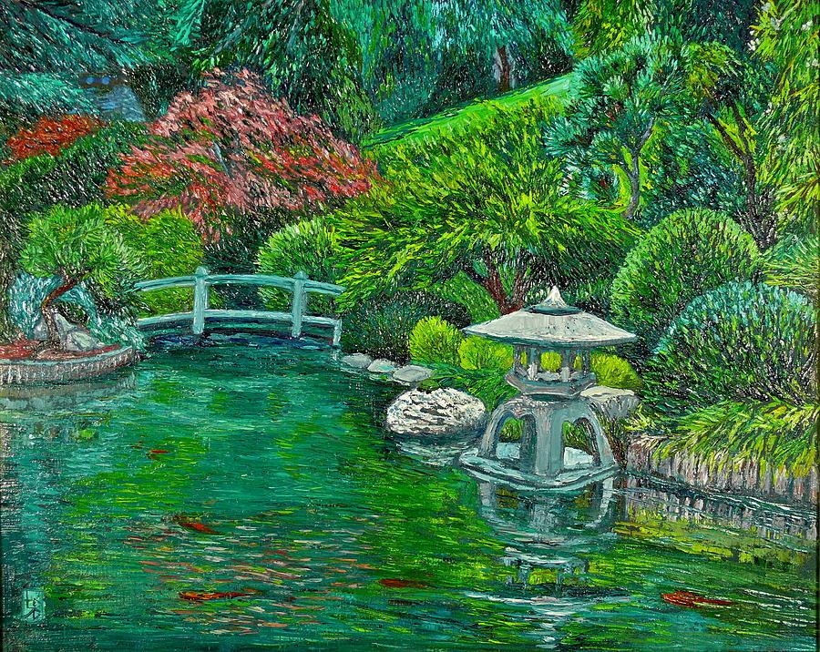 View of Japanese Gardens by Linda J Bean