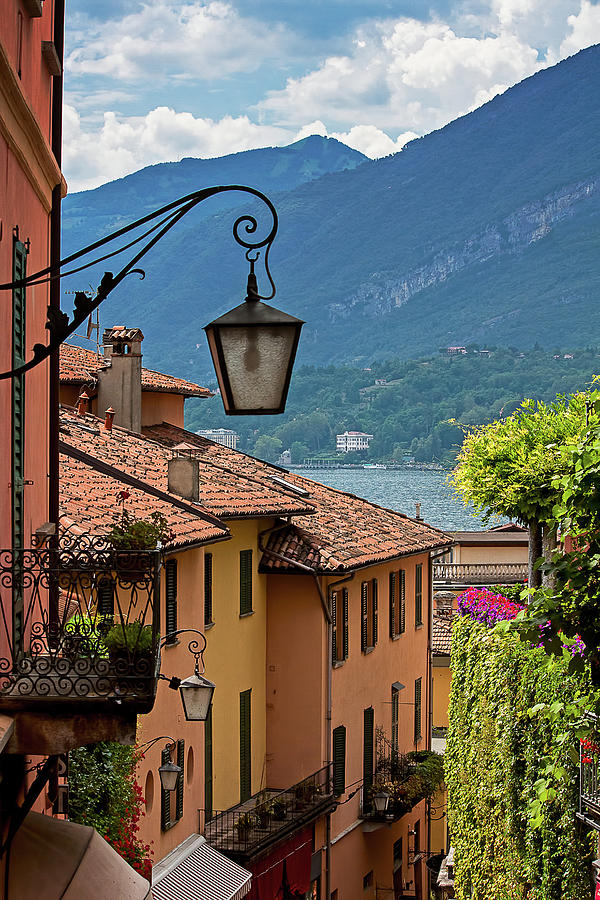 View Of Lake Como From Upper Street Photograph by Melinda Moore