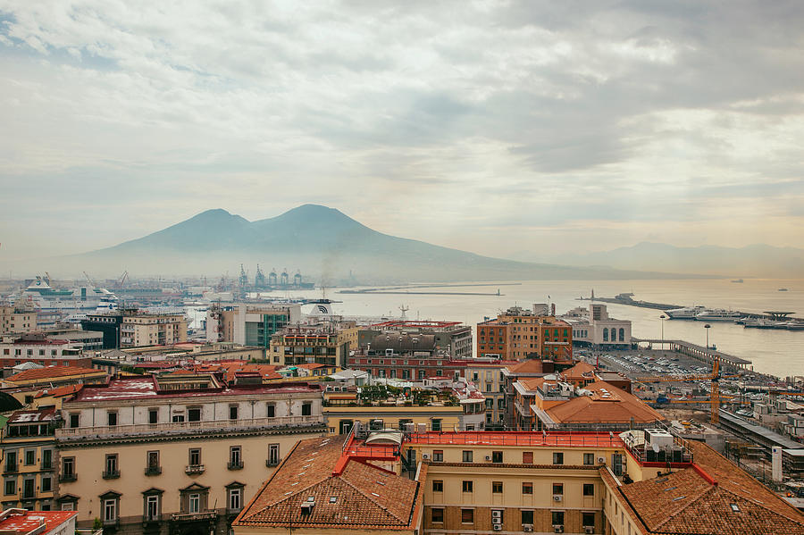 View Of Mount Vesuvius Over Naples Photograph by Kevin C Moore