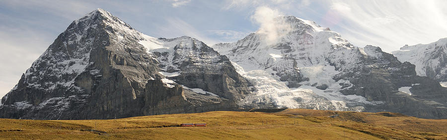 Color Image Photograph - View Of Mt Eiger And Mt Monch, Kleine by Panoramic Images