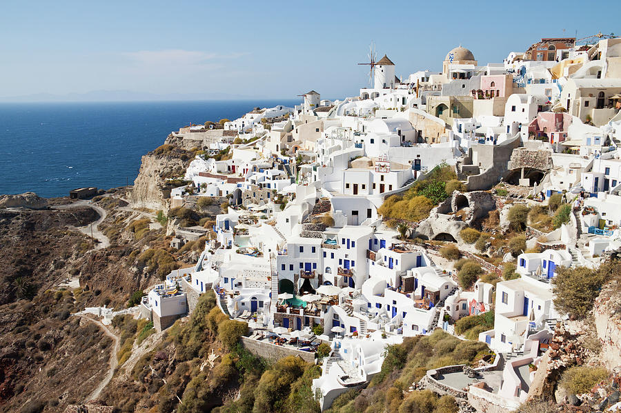 View Of Oia From Byzantine Castle Ruins Photograph by Melissa Tse
