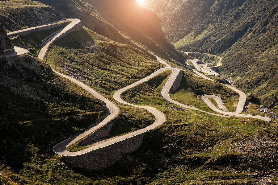 View Of Old Road To Gotthard Pass Photograph by Walter Zerla
