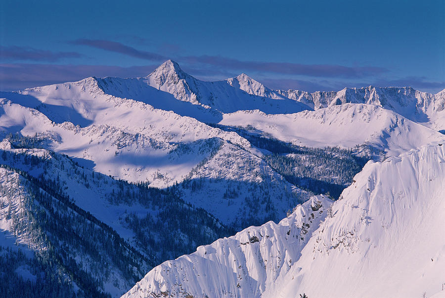 Alta Photograph - View Of Pfeifferhorn From The Big by Howie Garber
