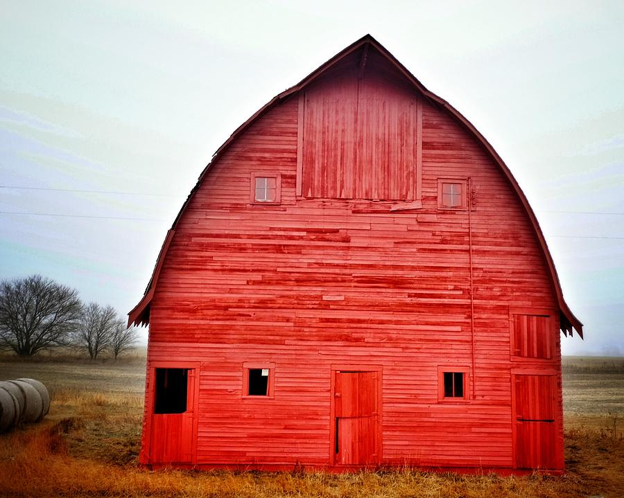 View Of Red Barn Photograph by Shannon Ramos / Eyeem