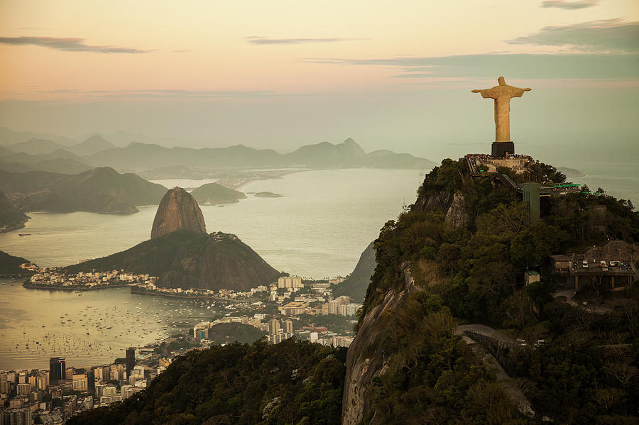 View Of Rio De Janeiro At Dusk Photograph by Christian Adams