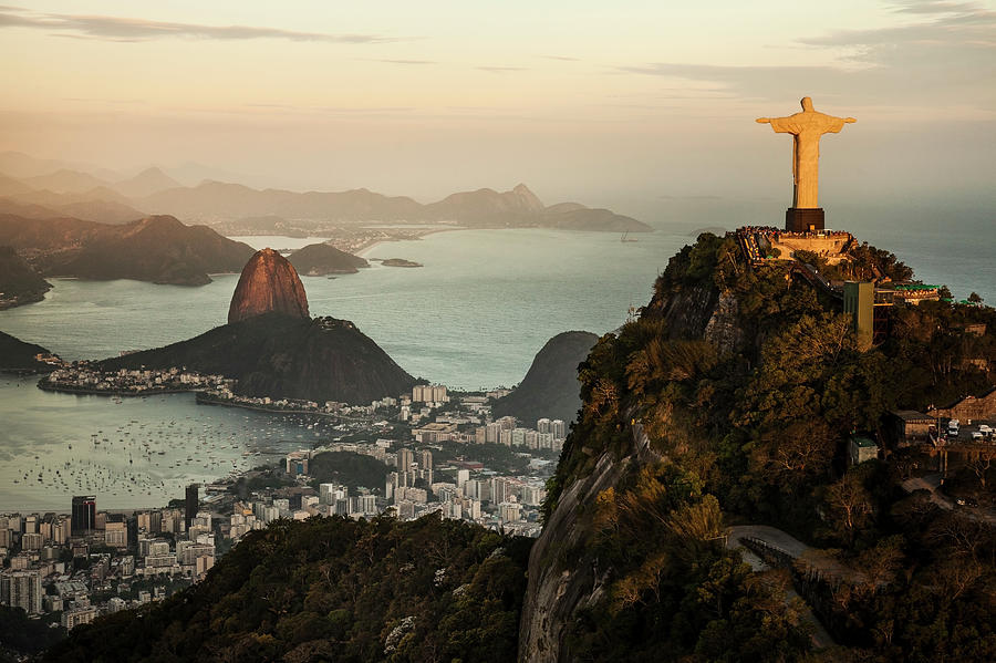 View Of Rio De Janeiro At Sunset Photograph by Christian Adams