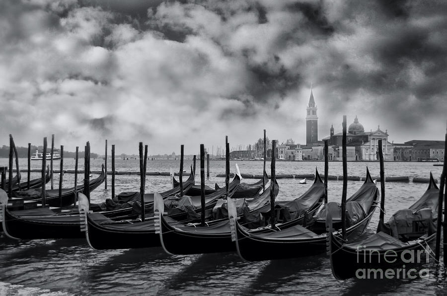Venice Photograph - View Of San Giorgio Maggiore Venice by Design Remix