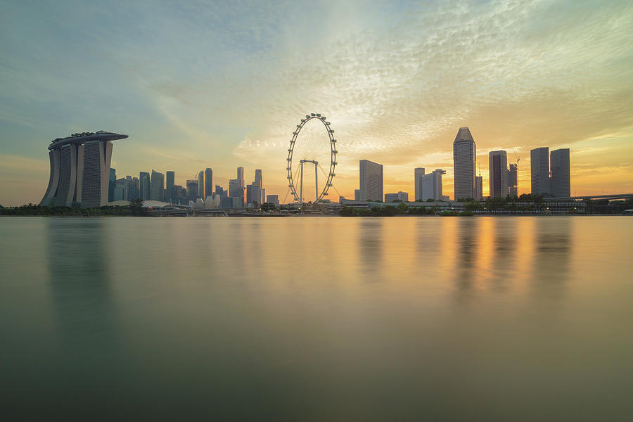 View Of Singapore Skyscraper Photograph by Natthawat