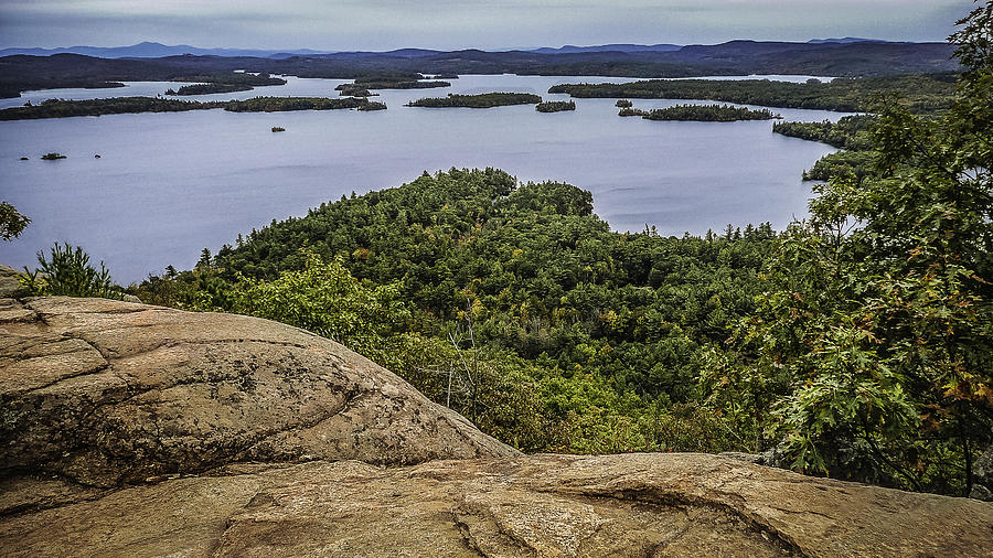 Karen Stephenson Photography Photograph - View Of Squam Lake From Rattlesnake Mountain by Karen Stephenson