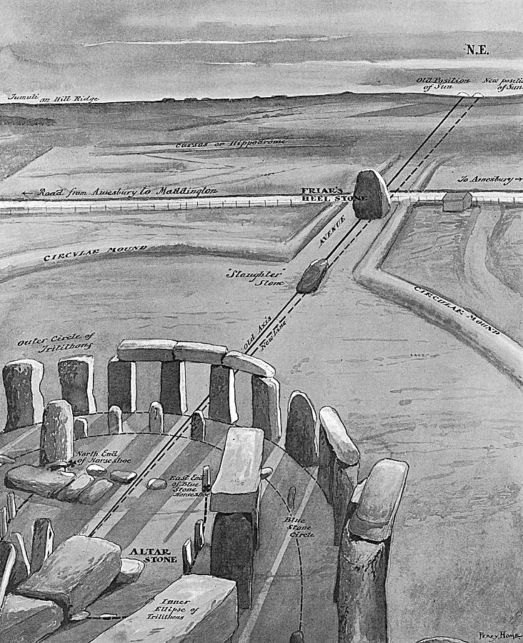 Stonehenge Drawing - View Of Stonehenge At Sunrise On 21 by Mary Evans Picture Library