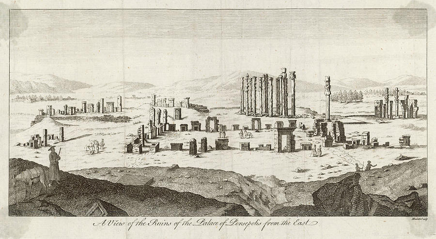 View Of The Citadel Of Persepolis Iran Drawing By Mary Evans Picture Library