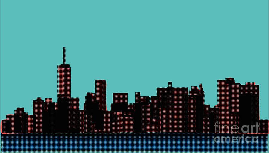Beauty Digital Art - View Of The Manhattan In The Pop Art by Finlandi