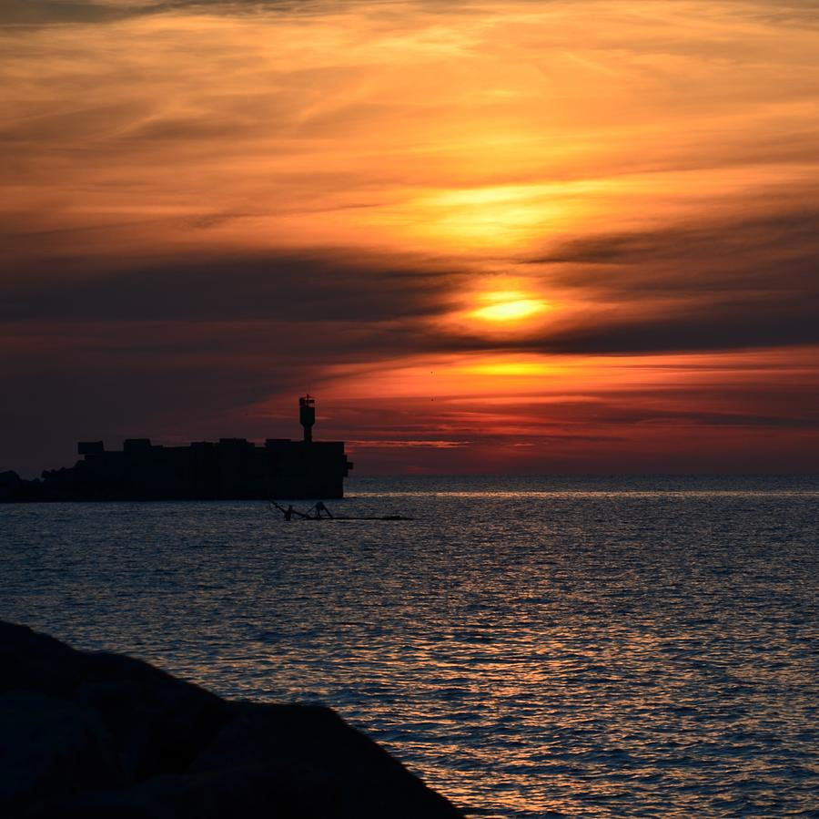 Sunset Photograph - View Of The Sunset by Gynt