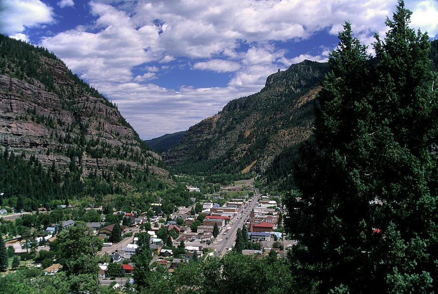 America Photograph - View Of The Town Ouray Colorado Usa by Richard Durnan