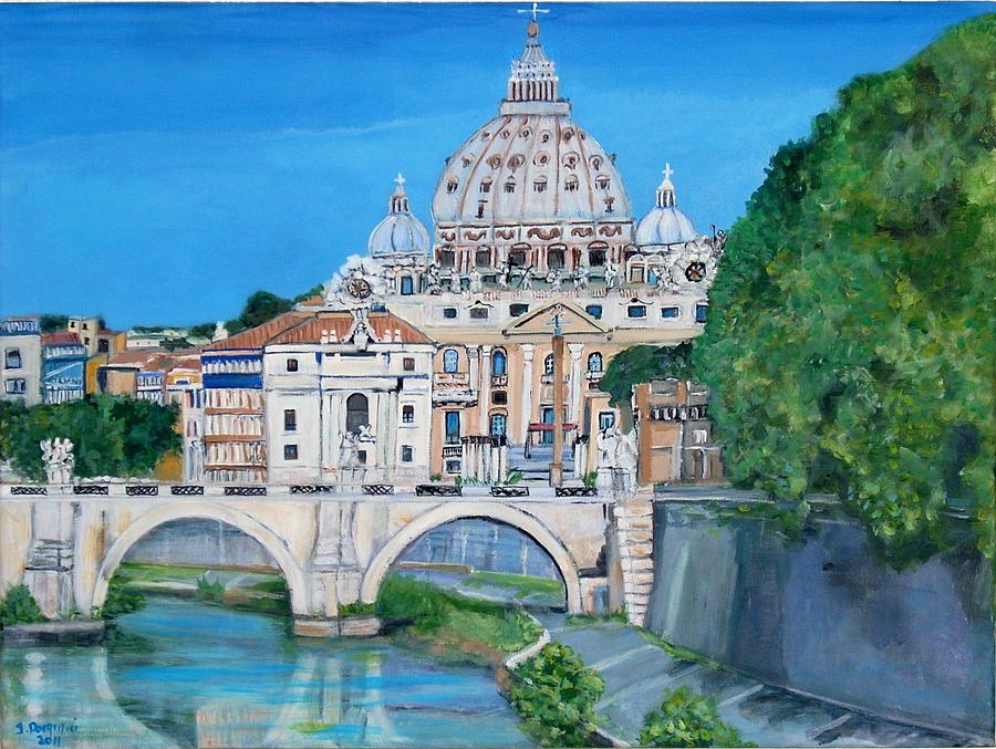 View Of The Vatican City In Rome Painting By Teresa Dominici